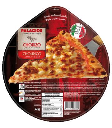 Pizza chouriço e queijo de cabra