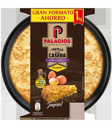 Tortilha caseira Palacios com cebola 1 quilo