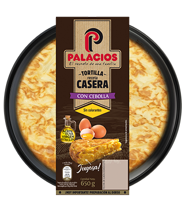Tortilha caseira palacios com cebola 650 g