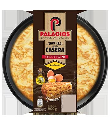 Tortilha caseira Palacios com chouriço 600gr