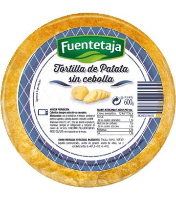 Tortilha de batata fresca sem cebola média