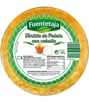 Tortilha de batata fresca com cebola média