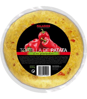 Tortilha de batata com pimentos média