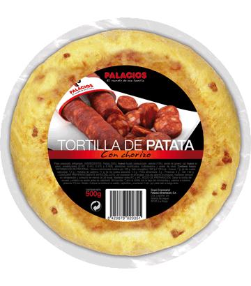 Tortilha de batata com chouriço média