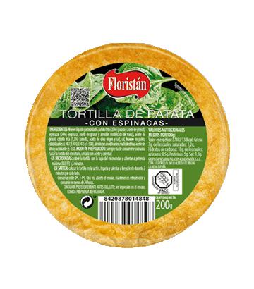 Tortilha de batata com espinafre míni