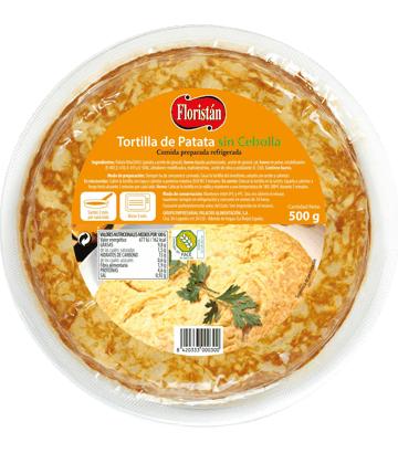 Tortilha de batata sem cebola média